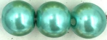 32 Green turquoise - glass pearls - beads - all sizes